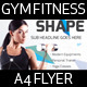 Gym Fitness A4 Flyer - GraphicRiver Item for Sale