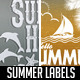 10 Summer Labels - GraphicRiver Item for Sale
