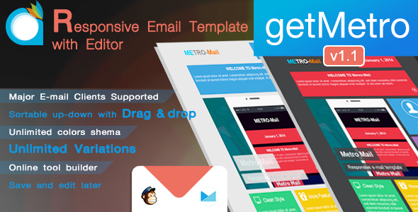 getMetro - Responsive Email Template with Editor - Email Templates Marketing