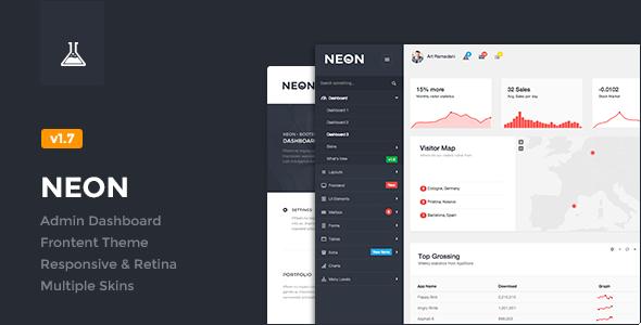 Neon - Bootstrap Admin Theme - Admin Templates Site Templates