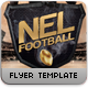 Nel Football Flyer Template - GraphicRiver Item for Sale