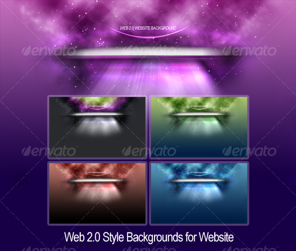 Space Backgrounds for Websites - Abstract Backgrounds