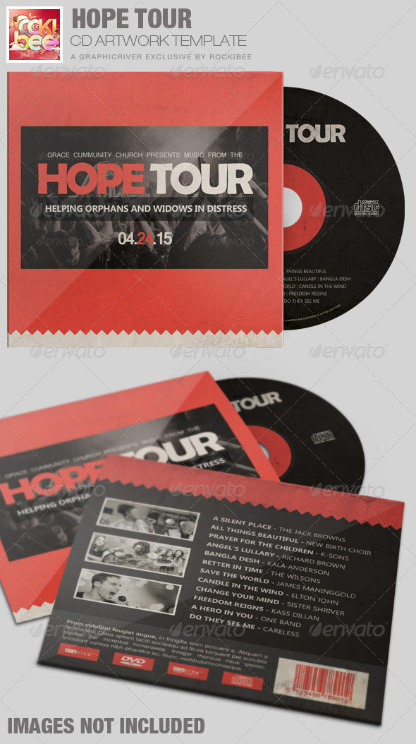 Hope Tour Charity CD Artwork Template