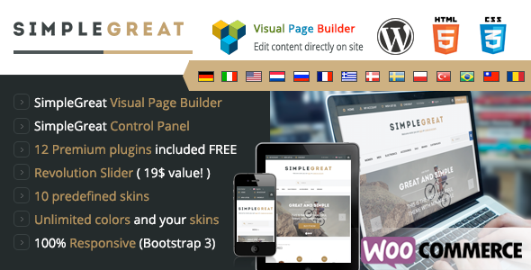SimpleGreat - Premium WordPress WooCommerce theme - WooCommerce eCommerce