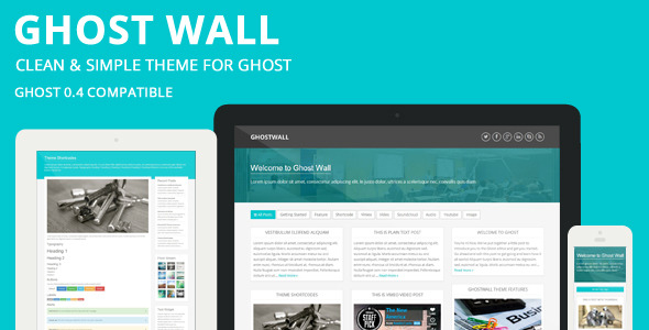 GhostWall - Clean Theme For Ghost