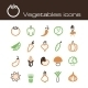 Icons Set Vegetables - GraphicRiver Item for Sale