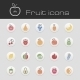 Icons Set Fruits - GraphicRiver Item for Sale