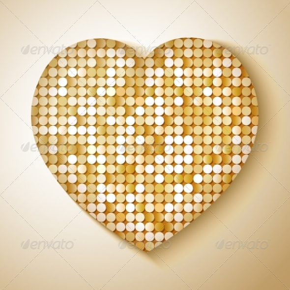 Shiny Sequins Heart