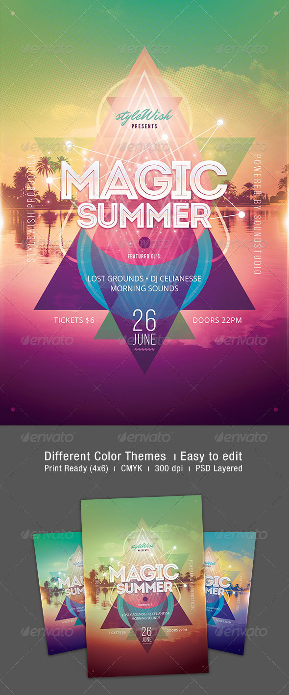 Magic Summer Flyer - Clubs & Parties Events