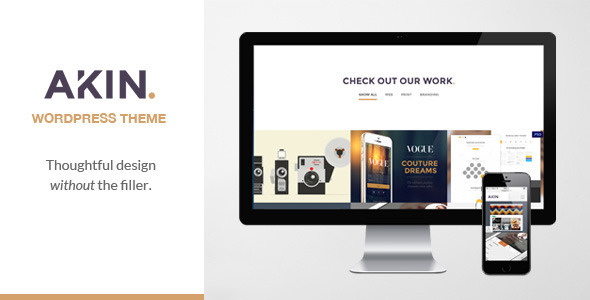 Akin - One Page Responsive WordPress Theme - Creative WordPress