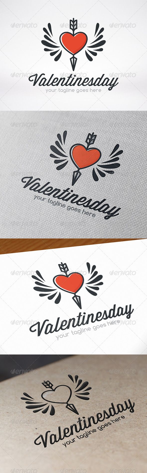 Valentines Day Logo Template