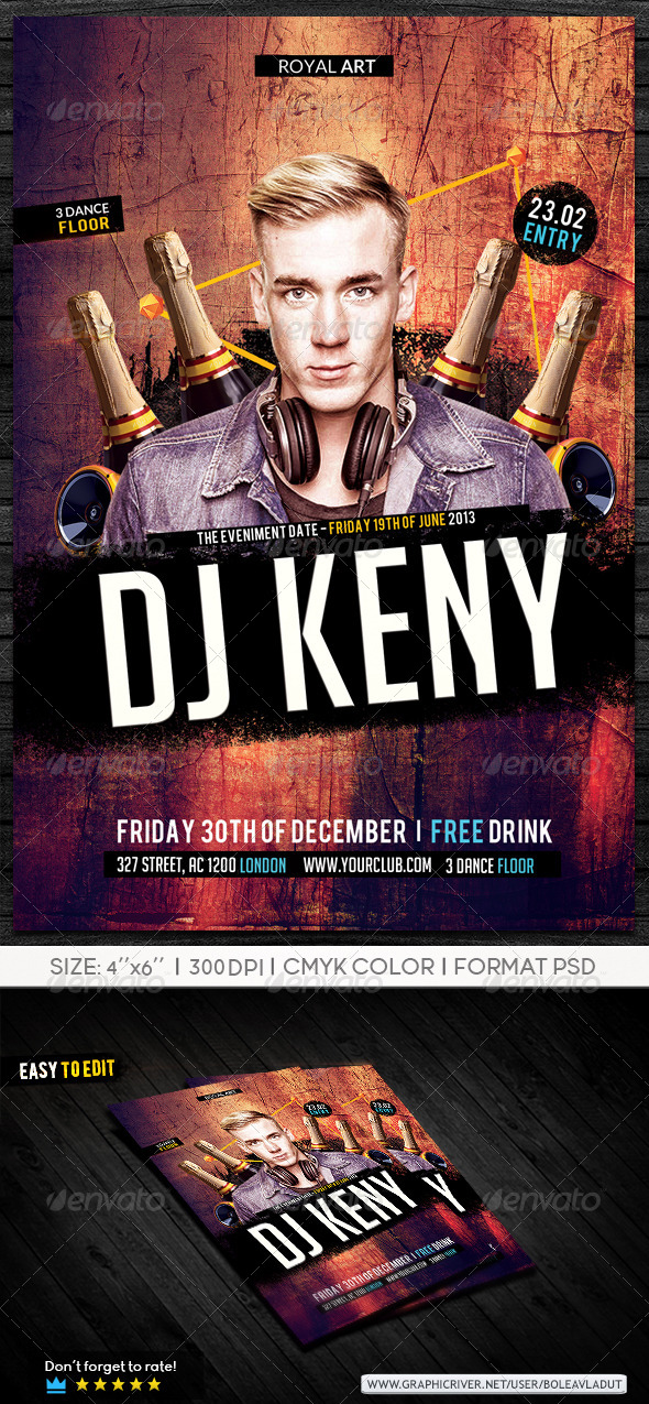 Flyer Dj Night Party - Clubs & Parties Events
