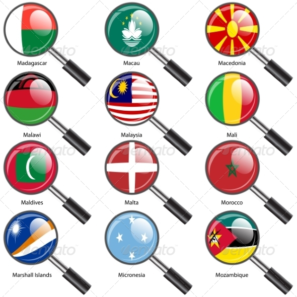 Set of Flags of World Sovereign States