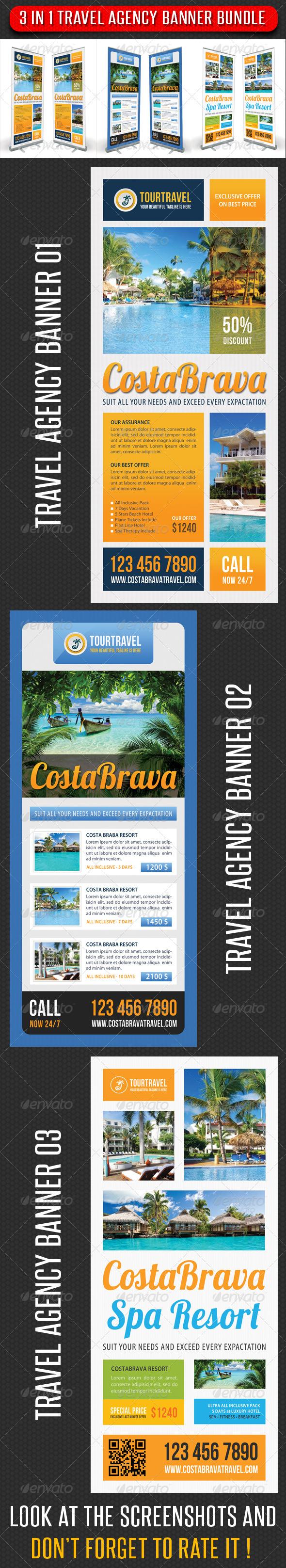 3 in 1 Travel Agency Banner Bundle 02