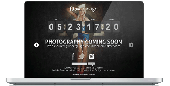 Photography - Coming Soon Site Template - Under Construction Specialty Pages