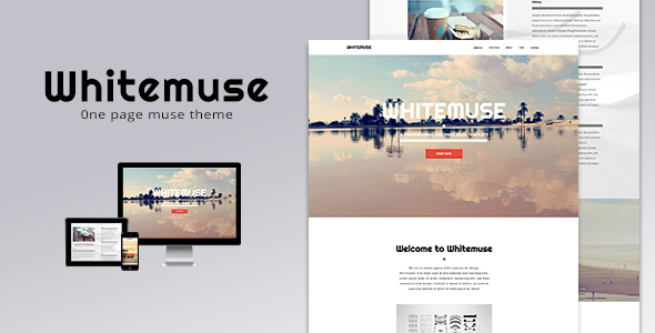 Whitemuse - One Page Muse Theme - Creative Muse Templates