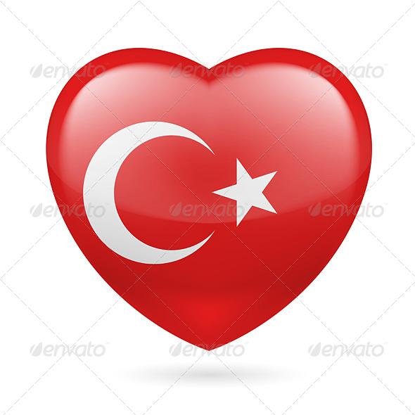 Heart Icon of Turkey