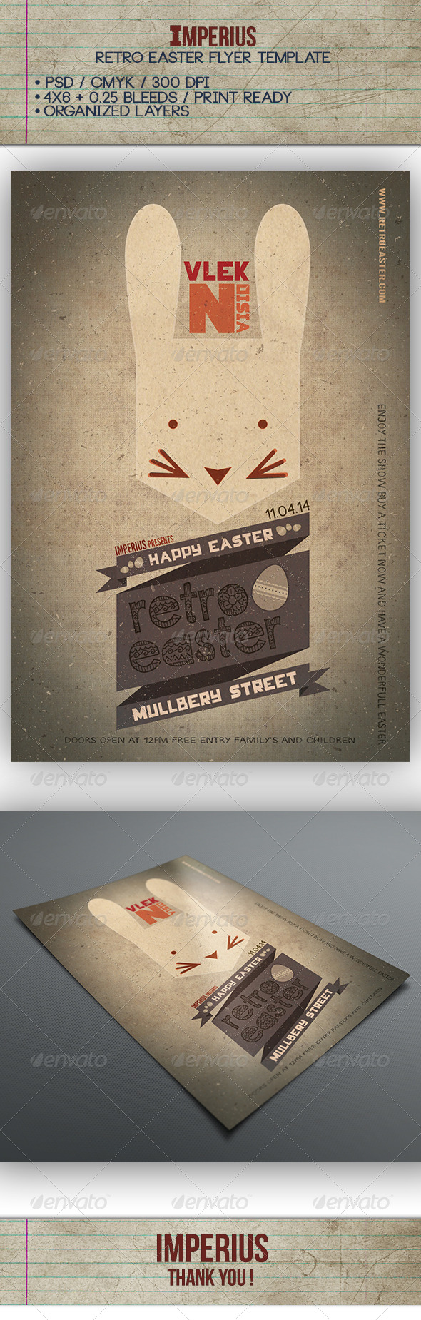 Retro Easter Flyer - Holidays Events