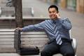 Hispanic Businessman - Talking on Cell Phone - PhotoDune Item for Sale