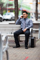 Hispanic Businessman - Chatting on cell phone - PhotoDune Item for Sale