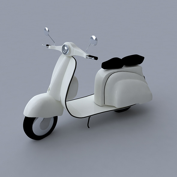 Scooter 3D Model  - 3DOcean Item for Sale