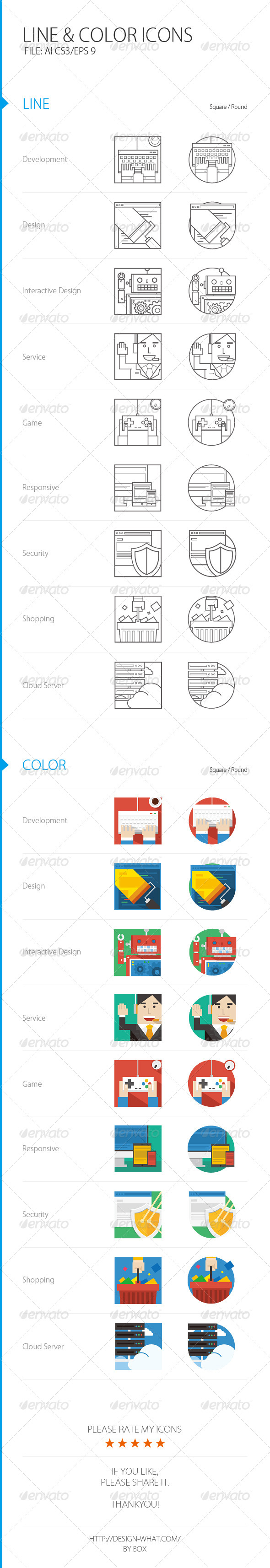 Line&Color ICONs