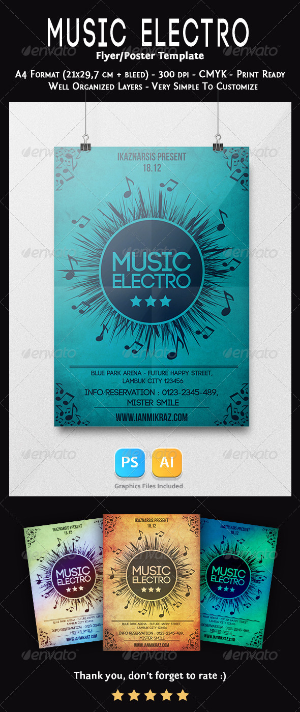 Music Electro Flyer Template - Concerts Events