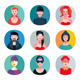Flat Avatar Collection - GraphicRiver Item for Sale