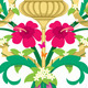 Tropical Floral Borders – Retro - GraphicRiver Item for Sale