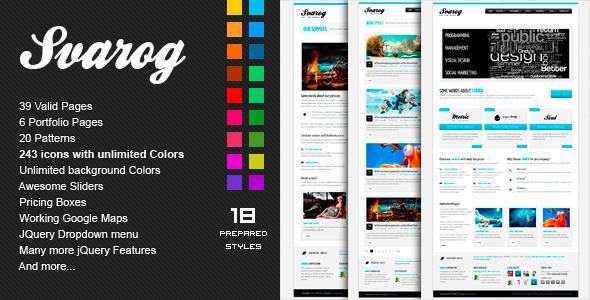 SVAROG - Premium HTML Template - ThemeForest
