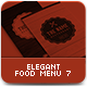 Elegant Food Menu 7 - GraphicRiver Item for Sale