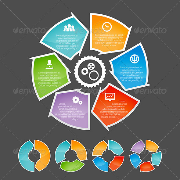 GraphicRiver Circling Arrow Infographic Element Set 7321879