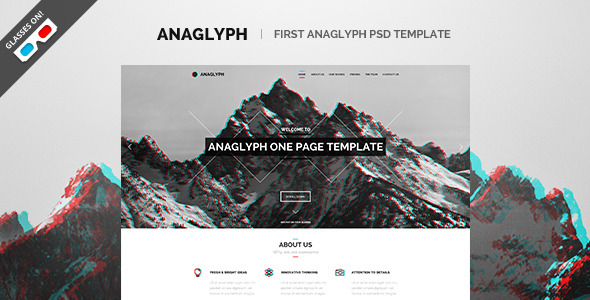 Anaglyph - PSD Template - Preview banner