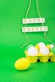 Colorful eggs and Happy Easter decoration - PhotoDune Item for Sale