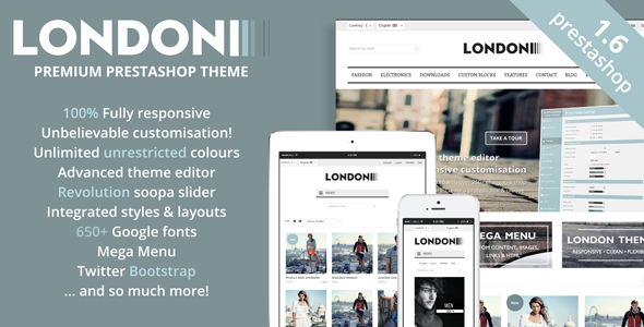 London - Premium Prestashop Theme - Blog 1.5 & 1.6