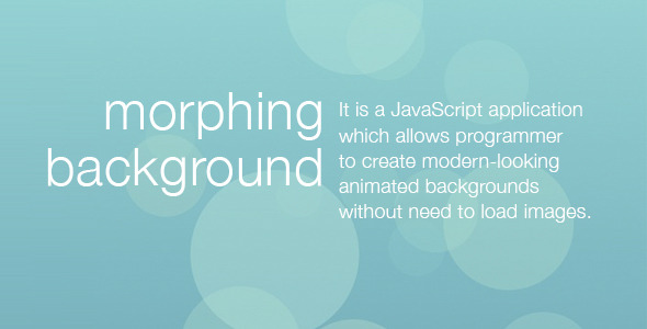 CodeCanyon Morphing Background 7322234