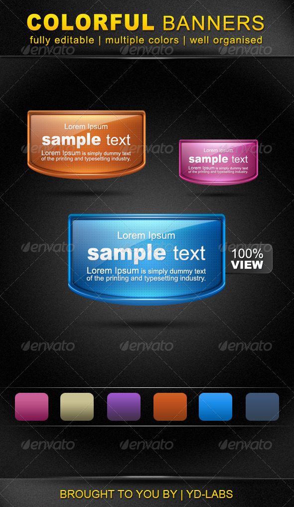 GraphicRiver Colorful Banners 759747