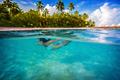 Woman swimming underwater - PhotoDune Item for Sale