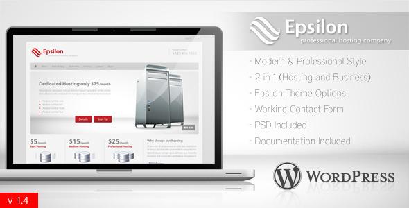 Epsilon - 主机和企业Wordpress主题 - 点金主题