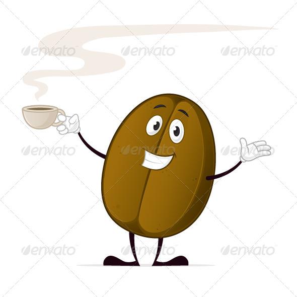 Coffee Bean Cartoon Happy coffee bean cartoon