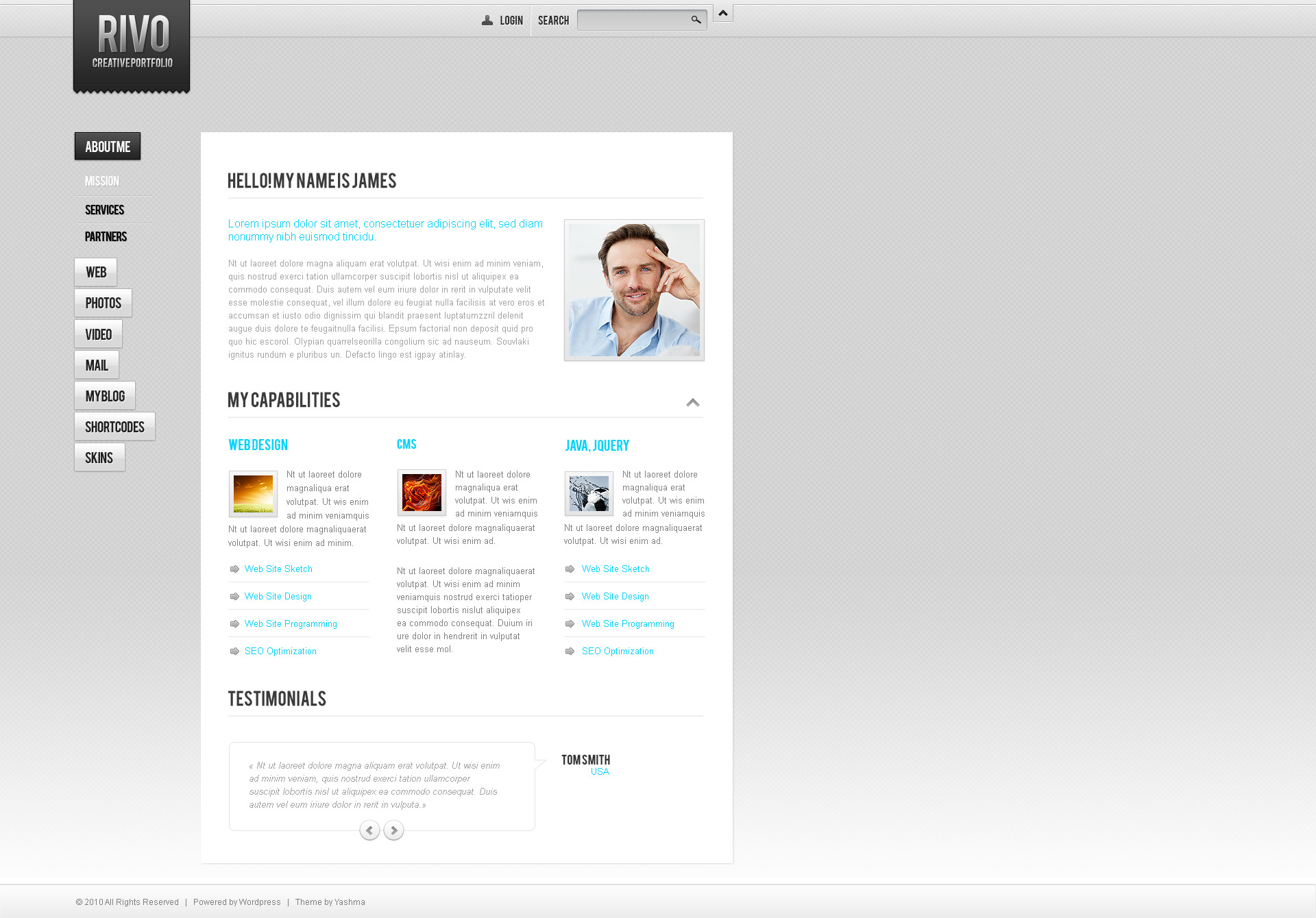 Rivo! Creative wordpress theme
