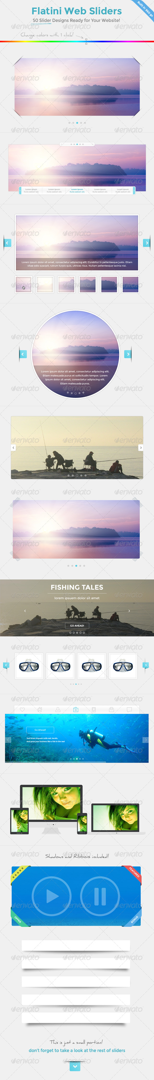 Flatini Web Sliders - Sliders & Features Web Elements