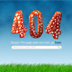 404 Error Mushrooms - GraphicRiver Item for Sale