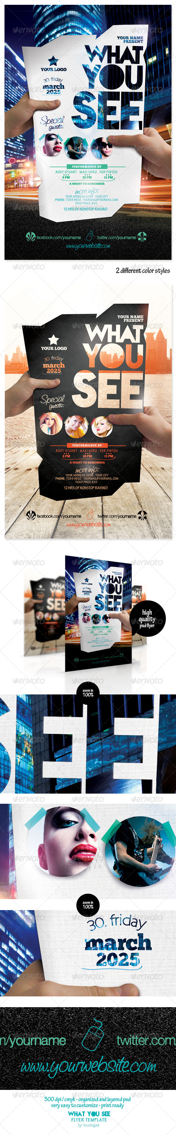 What You See Flyer Template - Flyers Print Templates