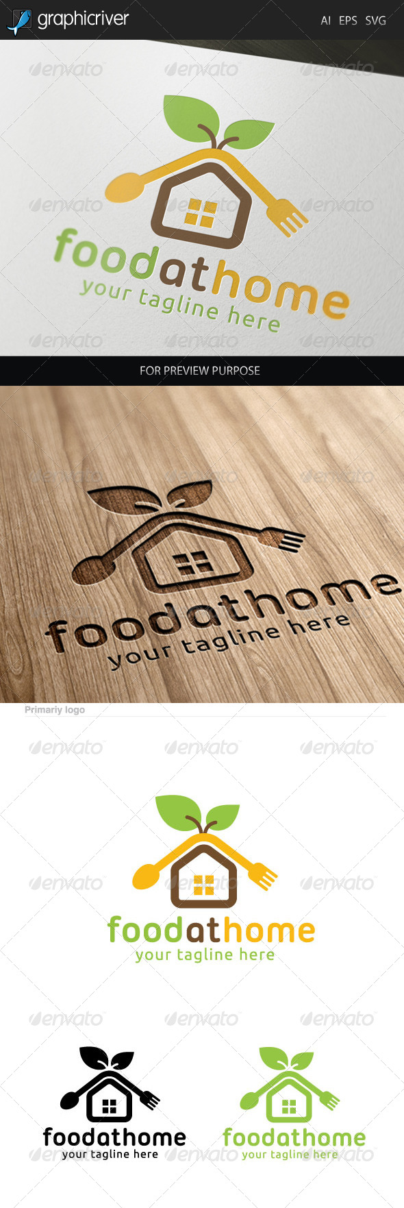 Food at Home Logo.
