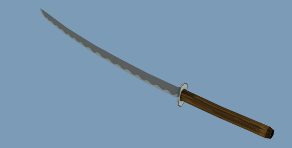 Low poly Samurai Sword - 3DOcean Item for Sale