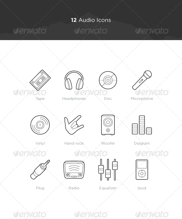 Audio Icons - Objects Icons