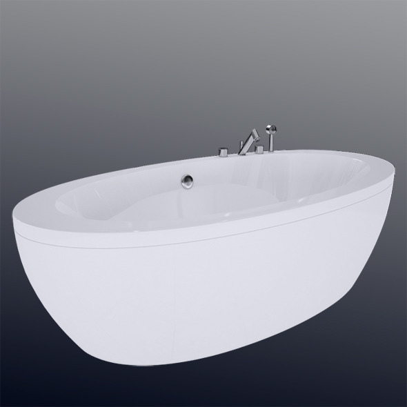 Laufen Il Bagno Alessi One Bathtub 24197.0 - 3DOcean Item for Sale
