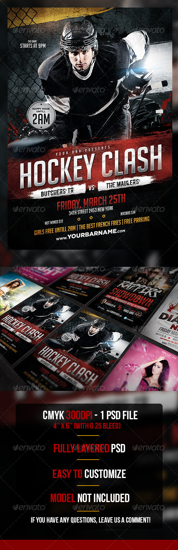 Hockey Clash Flyer Template - Sports Events