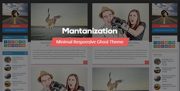 Mantanization - Minimal Responsive Ghost Theme - Ghost Themes Blogging